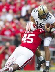 WISCONSIN FOOTBALL 2014 Warren Herring is a strong pass rusher for a nose tackle and could excel in a full-time role this season.