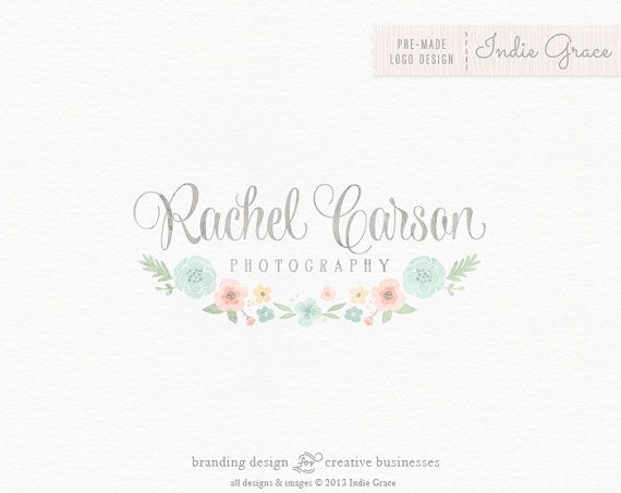 Custom PreDesigned / Watercolor floral design - photography or boutique logo