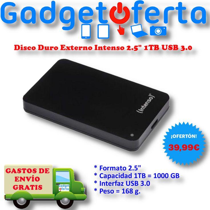 ¿Un Disco Duro portátil USB 3.0 de 1TB, por solo 39,99€?  No lo encontrarás más barato en el #BlackFriday  http://lnk.al/5Ik7