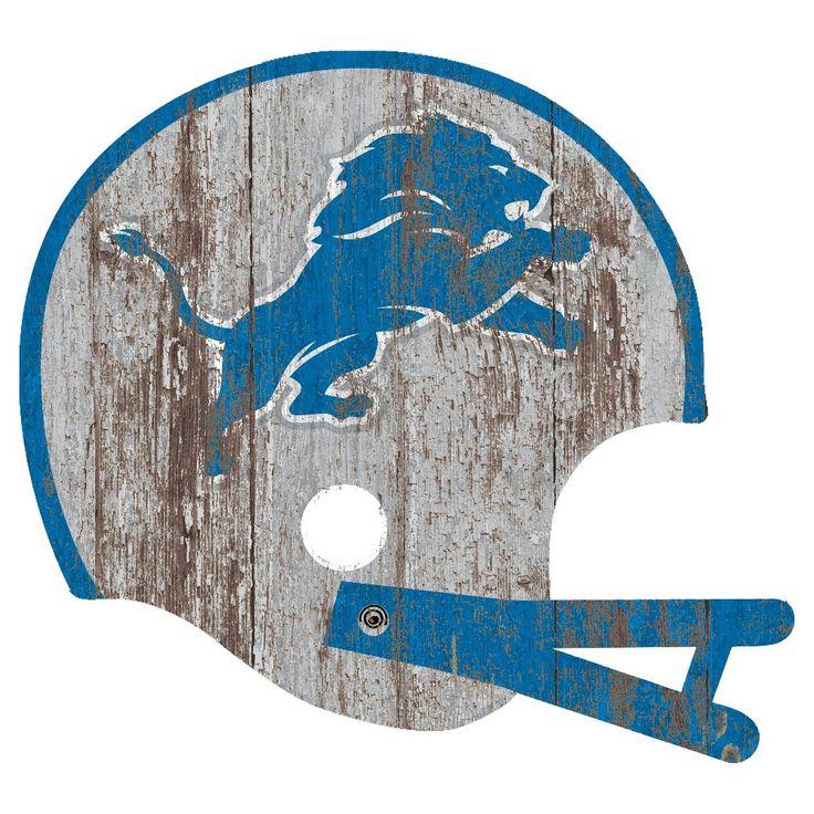 NFL Detroit Lions Distressed Helmet Cutout Sign