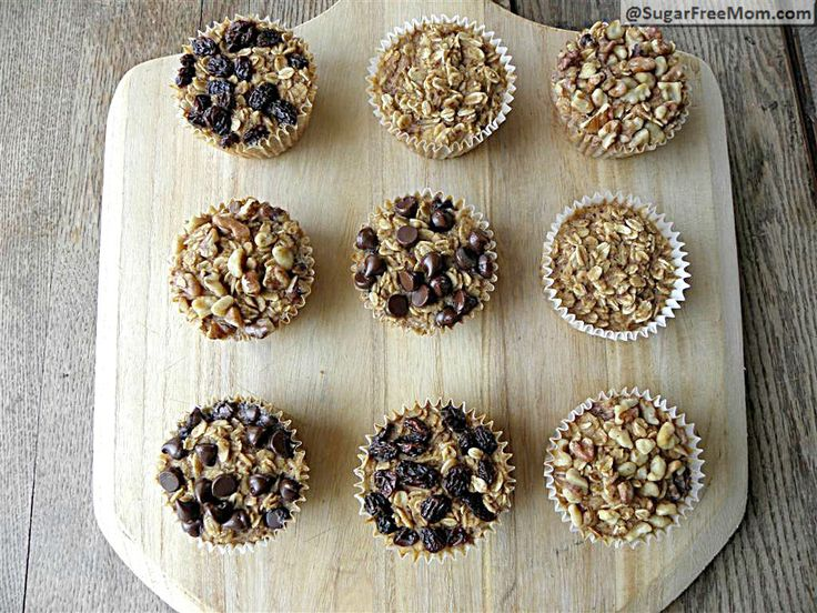 Personal Sized Baked Oatmeal with Individual Toppings: Gluten Free & Diabetic Friendly