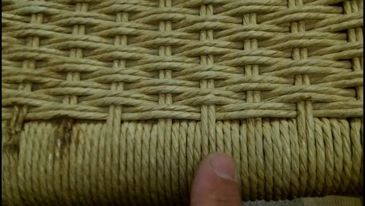 Danish Cord Weaving in a chair seat