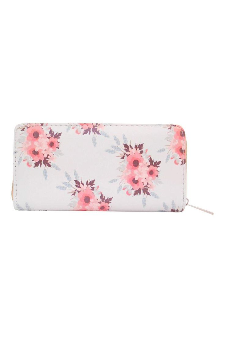 "Beautiful Floral Wallet Slots for Cards and zipper pouch for coins    Measurements:  7""X 4""   Floral Wallet by The Chic Boutique. Bags - Wallets & Wristlets Wisconsin"