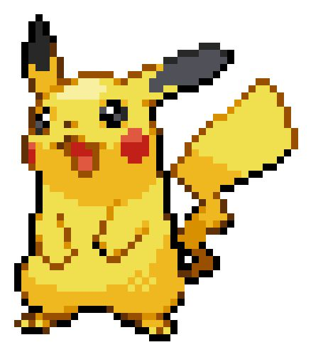 Resultado de imagen para pikachu pixel png