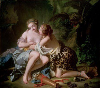 Jean-Simon Berthelemy - Diana (Jupiter) and Callisto