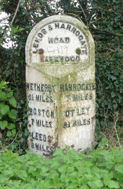 Milestone - Harrogate Road