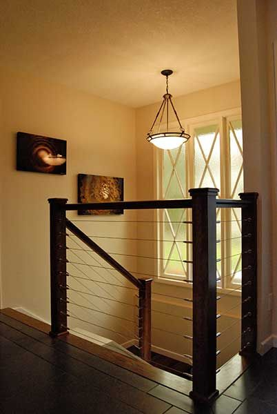 Cable Staircase Railing   Not Colors.