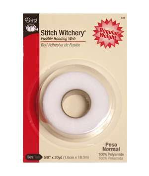 """Dritz Stitch Witchery - Fusible Bonding Web - Regular Weight:  """"Can't sew to save your life? Use Stitch Witchery to hem the edges — no one will ever know the difference."""" $3.85"""