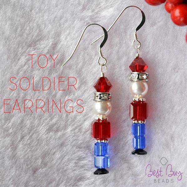 983417f8e Toy soldier nutcracker beaded earrings tutorial | Christmas Crafts ...