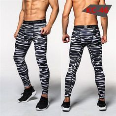 Mens Compression Pants New Crossfit Tights Men Body building Pants Trousers Camouflage Joggers
