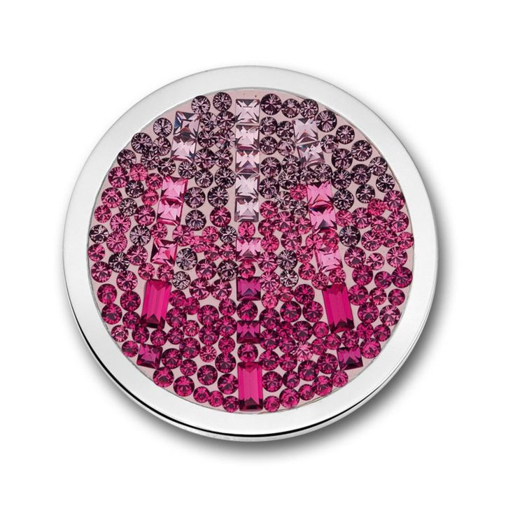 Mi Moneda Cascada Collection Hot Pink Coin in Size: Large