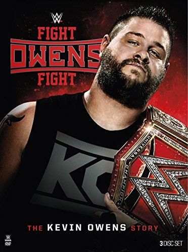 """WWE: Fight Owens Fight: The Kevin Owens Story:   ![CDATA[WWE: Fight Owens Fight: The Kevin Owens Story (DVD)/pFor the first time ever, WWE Home Video takes you through the journey of Kevin Owens and his fight to get to the top of WWE. Hear from """"The Prizefighter"""" himself as he talks about his career on the independent scene, getting to NXT, and his road to becoming the WWE Universal Champion. Welcome to the Kevin Owens show!/p]]"""