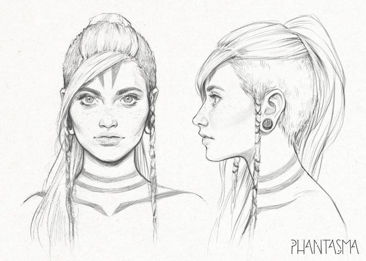 Jun again. I've posted the drawing on the left before, but cleaned it up a bit and added a profile view. The drawing on the right was done in Photoshop. I used the pencil brushes I recently made. If you'd like to get them, sign up for my mailing list at www.djamilaknopf.com or you can support my personal project Phantasma on www.patreon.com/djamilaknopf Thanks!