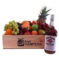 Jim Beam Gift Hamper with Fruit - gifts for men  www.igiftfruithampers.com.au  #fruithampers #fruitgifts #giftsformen #luxurygifts #mangifts #freeshipping #hampers #gifthampers #giftsaustralia