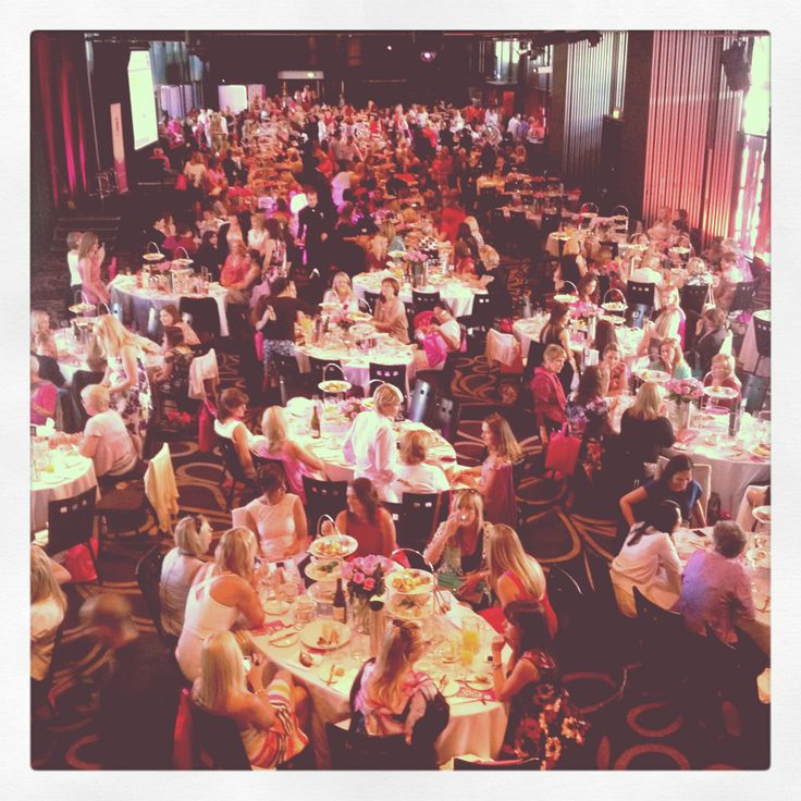 Everyone sitting and enjoying themselves at the Sydney High Tea. October 19, 2012.