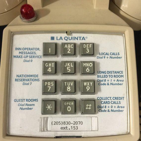 Vintage Motel Room Phone With Message Light La Quinta Etsy Motel Room La Quinta Inn Messages