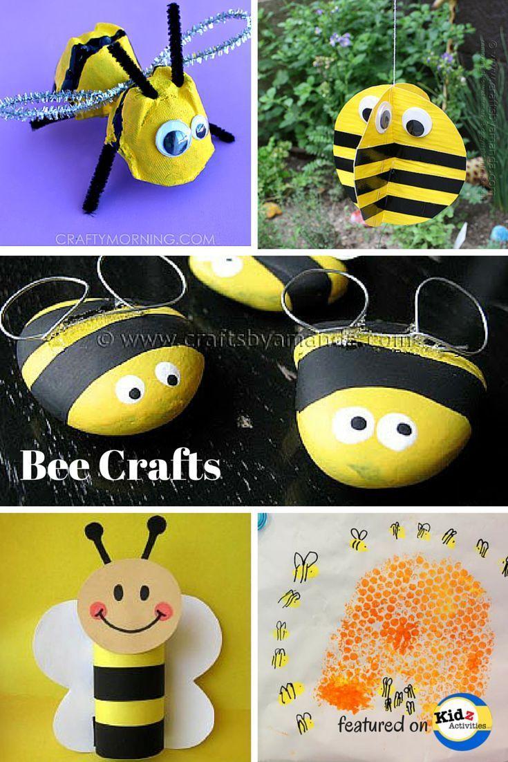 Bug Crafts for Preschool: Bee Craft