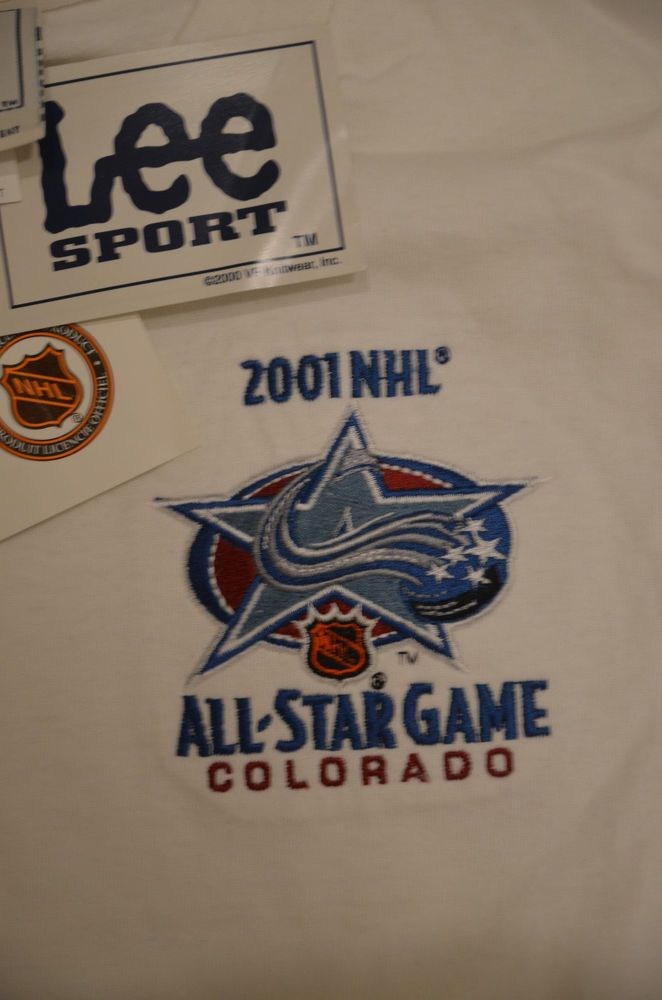 New Colorado Avalanche All-Star Game 2001 NHL Hockey T-Shirt Adult Medium  White  LeeSport  GraphicTee 7746f1a7d