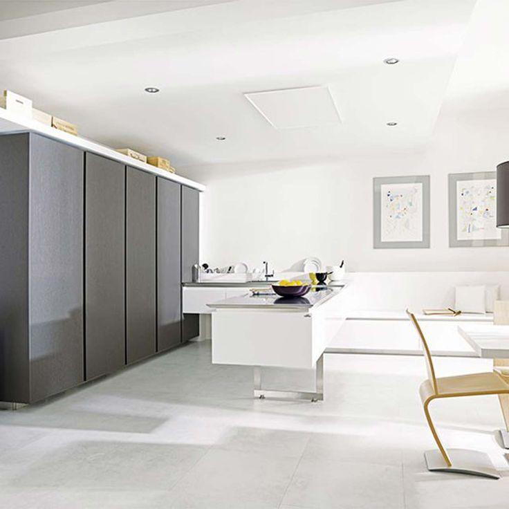 Porcelanosa White kitchen design ideas ~ http://www.lookmyhomes.com/white-kitchen-design-ideas-10-best-photos/