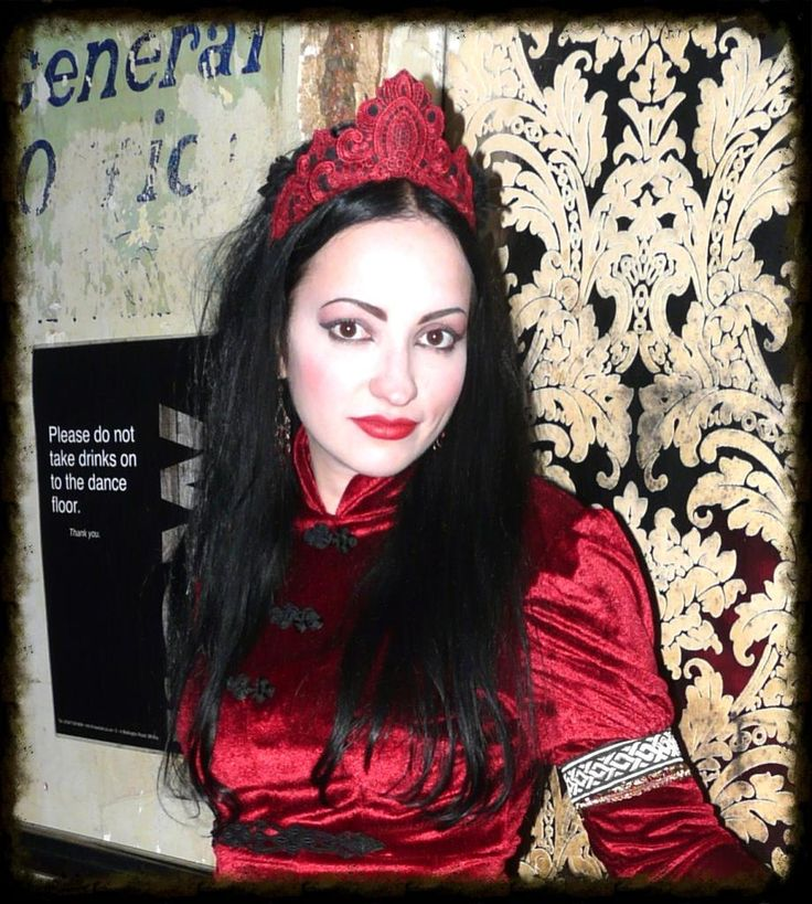 Handmade red lace headdress made for Whitby Goth Weekend.