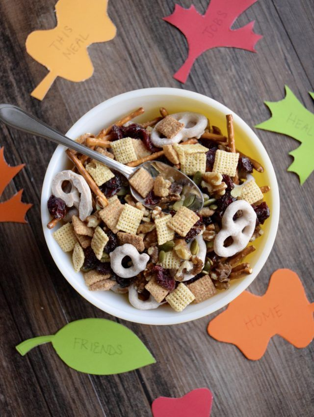 Turkey Day Trail Mix - Everyone needs some snacks to get them through the day until the big Thanksgiving meal!  Let this Turkey Day Trail Mix be an easy recipe to throw together to keep hunger at bay until dinner is ready!