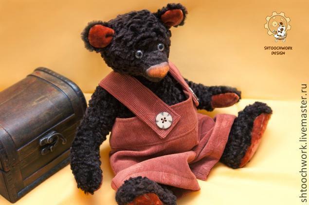 Купить Мистер Биг - мишка тедди, авторские мишки, оригинальный подарок, эксклюзивный подарок