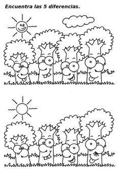 Actividades Escolares: buscar las 7 diferencias o dibujarlas