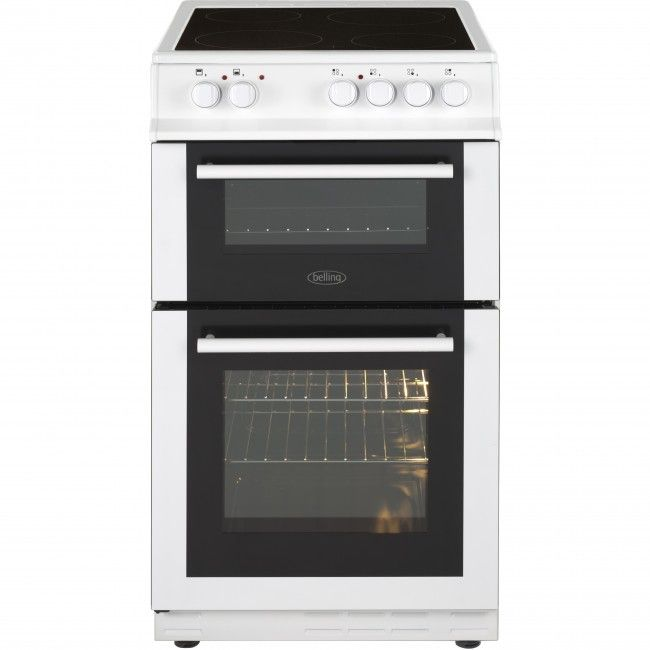 Buy Belling FS50EDOFC Black Ceramic Electric Cooker with Double Oven at Atlantic Electrics #Belling #ElectricCooker #oven #uk #kitchen #appliances