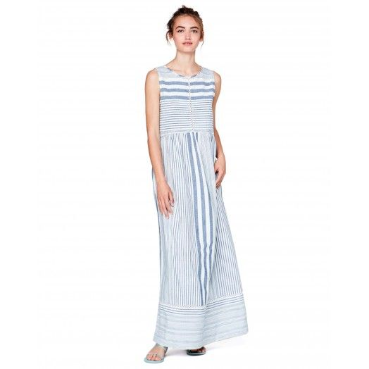 Long sleeveless #dress from #SS17 #Benetton #woman collection