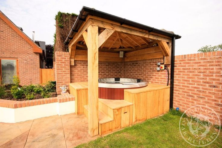 1000 images about oak gazebos pavilions on pinterest for Hot tub shelters