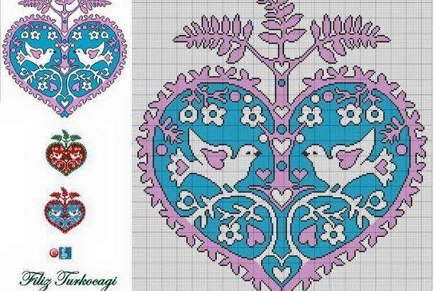 μοτίφ γάμου σταυροβελονιά /cross stitch marriage motifs