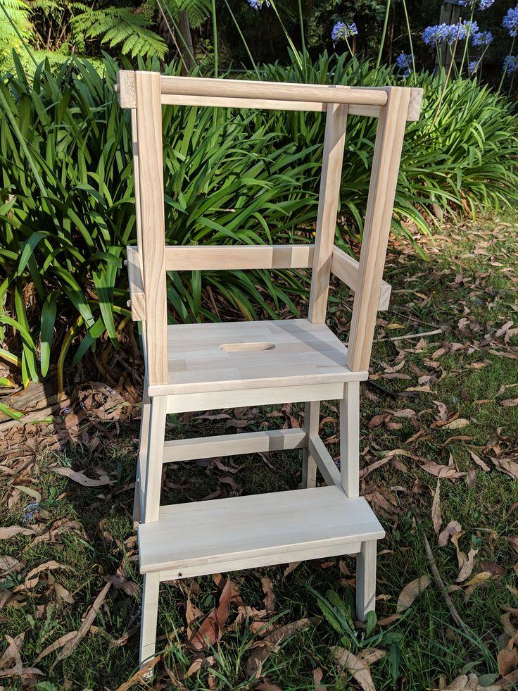 Raw pine toddler tower | Kids furniture, Dining chairs ...