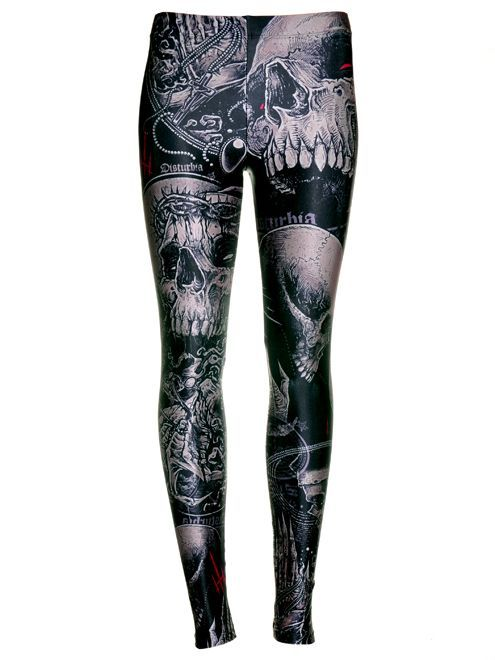 Disturbia - Skull Leggings