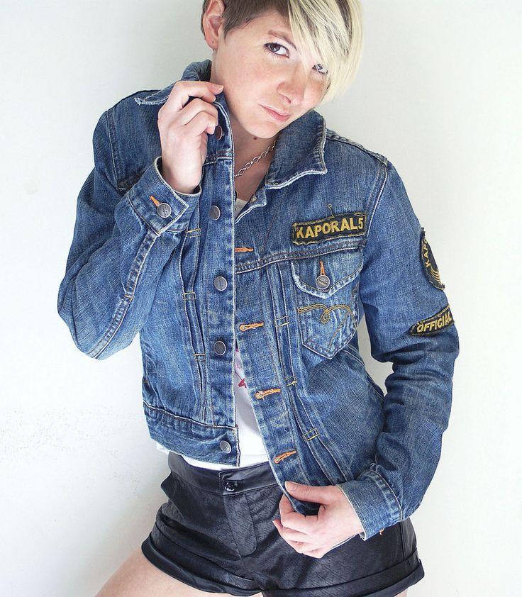 veste en jeans kaporal avec patch stylé Taille L #Autresvestesblousons