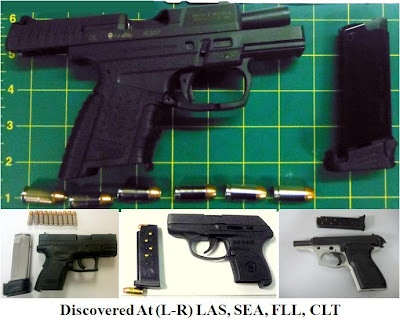 FRIDAY, SEPTEMBER 7, 2012: TSA Week in Review:  Firearms our Officers found in carry-on baggage since I posted last Friday(3): Friday 3, Tsa Week, Carry On Baggage