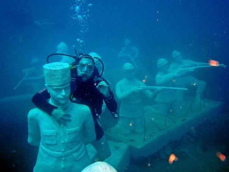 underwater museum, side, antalya, turkey