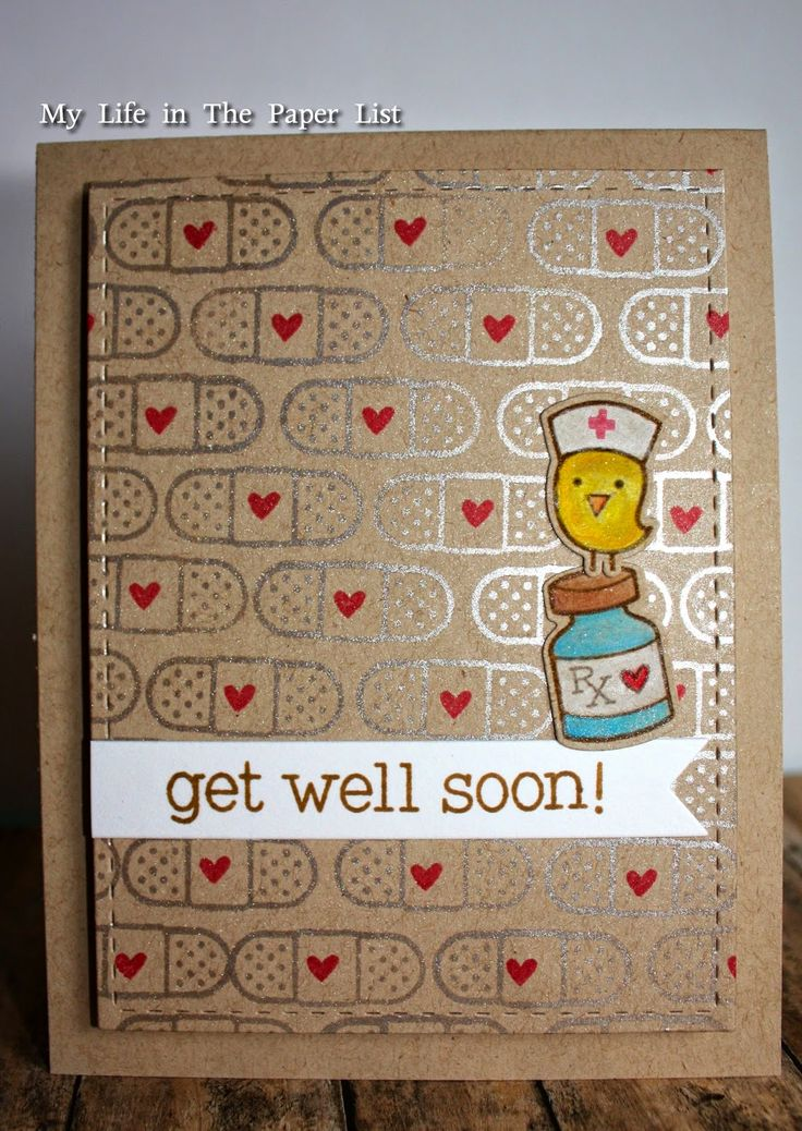 My life in the Paper List: Get Well Soon!