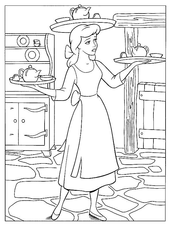 Cinderella coloring pages for Mabel