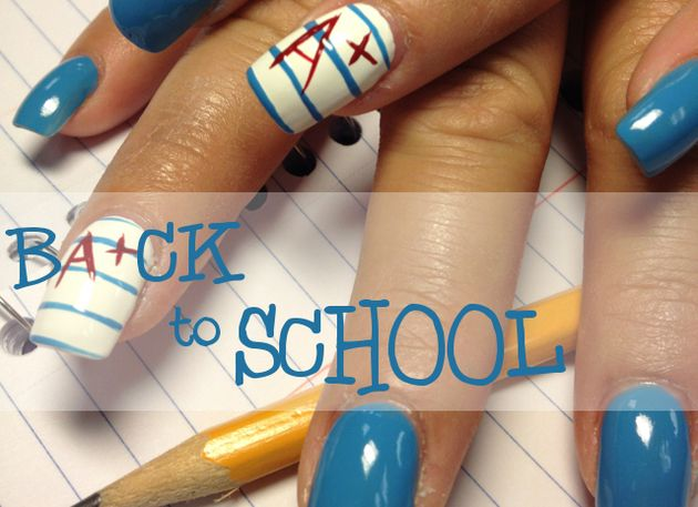 Back to School Nail Art Ideas - 58 Best Back To School Nail Designs Images On Pinterest School