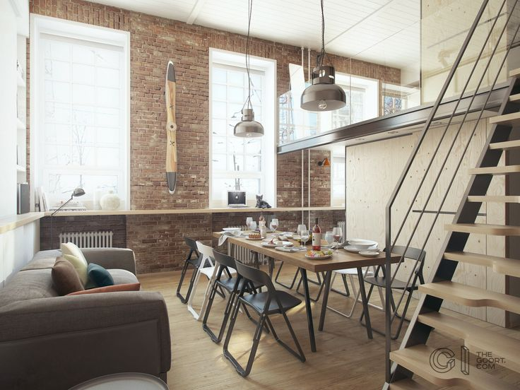 Haruki's apartment | A Super Small Apartment That Adapts To Its Owner's Needs by #TheGoort (Mariupol, Ukraine, 2015)