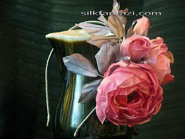 Ободок Роза с веточкой 4,500руб.