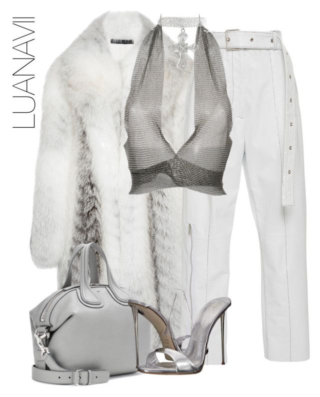 """Untitled #927"" by luanavii ❤ liked on Polyvore featuring Francesco Scognamiglio, Fannie Schiavoni, Givenchy and Giuseppe Zanotti"