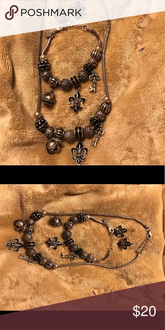 Grace Adele Jewelry Set Grace Adele Black Jewelry Set. Necklace,Earrings & Bracelet. Never Worn. No Box. Grace Adele Jewelry Necklaces