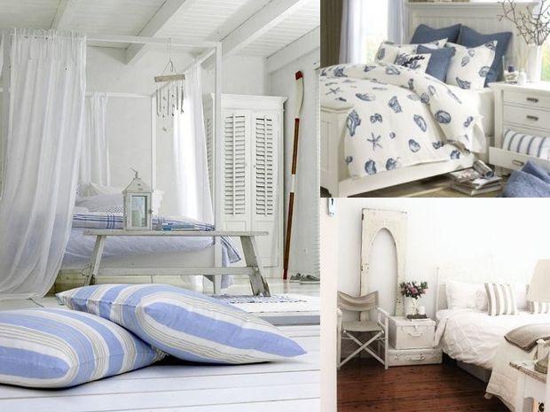 La camera da letto della casa al mare
