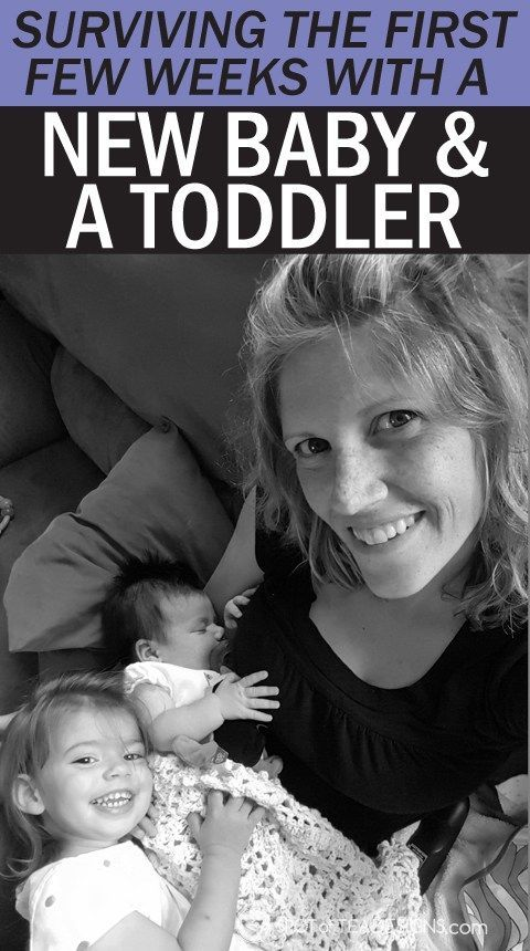 Tips to surviving the first few weeks with a new #baby and #toddler. #parenting advice   spotofteadesigns.com