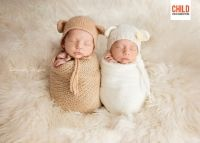 Newborn twins. Brother and sisters. Multiples. Newborn photography photo ideas.