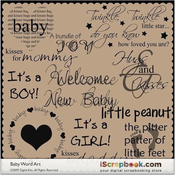 Cute Quotes For New Born Baby Boy: Baby Word Art $ 3 00 Josie Stewart Cute