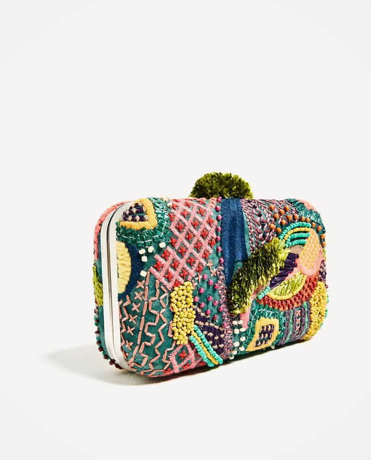 MULTI-COLORED FABRIC MINAUDIERE-CITY FRONT ROW-WOMAN | ZARA United States