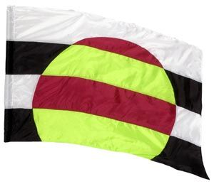fi191B Black, white, yellow, red Color Guard flag from The Band Hall