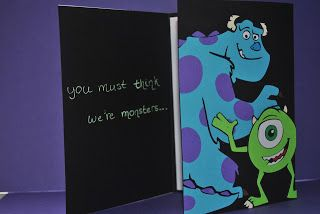 Two Early Birds: Monsters, Inc Birthday Card